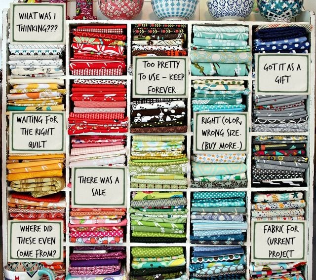 Fabric Filing System - Funny! More sewing humor at Melly Sews