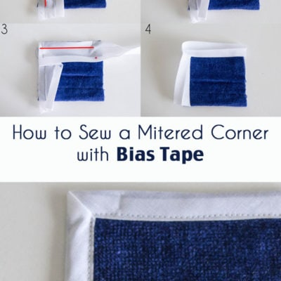 How to Miter a Corner with Bias Tape