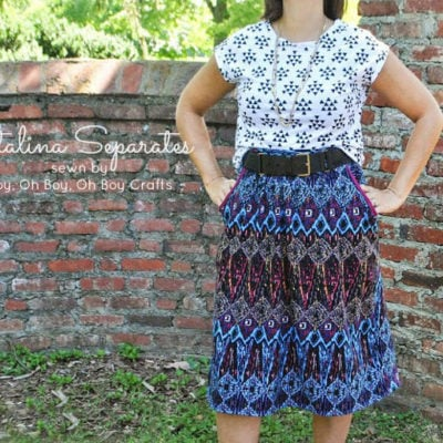Catalina Dress with Boy Oh Boy Oh Boy – Blank Slate Sewing Team
