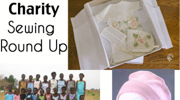 Charity Sewing Round Up - ways to use sewing to give back