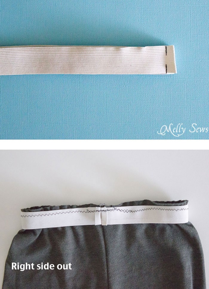 Step 1 - How to make shorts from a t-shirt - including how to sew a drawstring elastic waist - Melly Sews