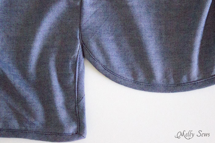 Step 4 - Chambray High Low Skirt Tutorial - Melly Sews
