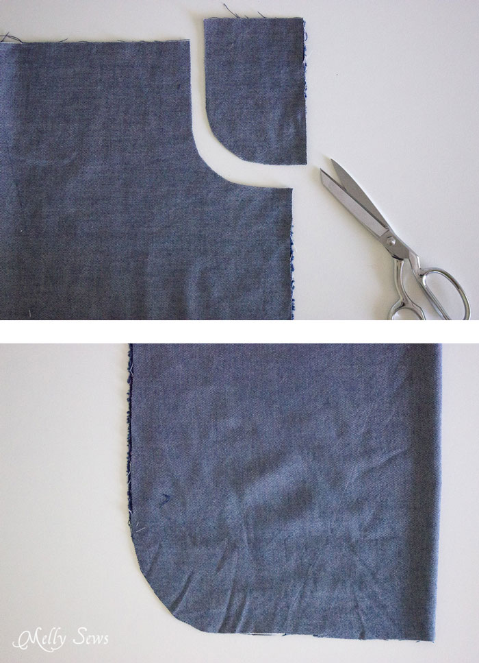 Step 1 - Chambray High Low Skirt Tutorial - Melly Sews