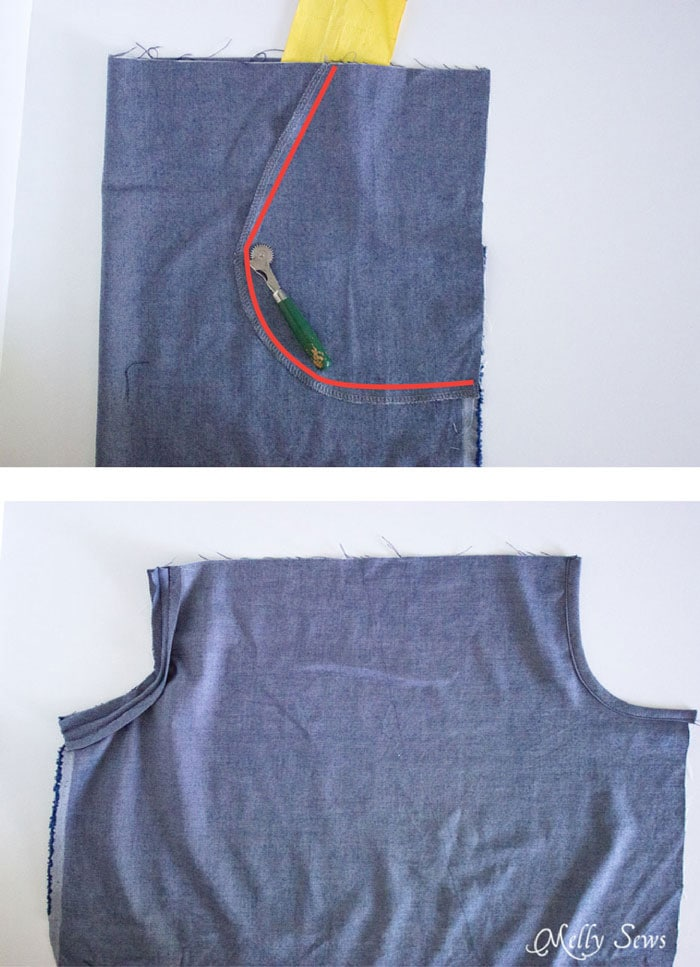 Step 2 - Chambray High Low Skirt Tutorial - Melly Sews
