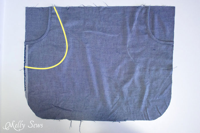 Step 3 - Chambray High Low Skirt Tutorial - Melly Sews