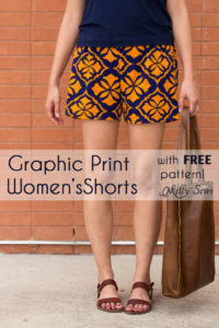 Sew Women's Shorts with this FREE pattern and tutorial - Graphic Print Shorts by Melly Sews