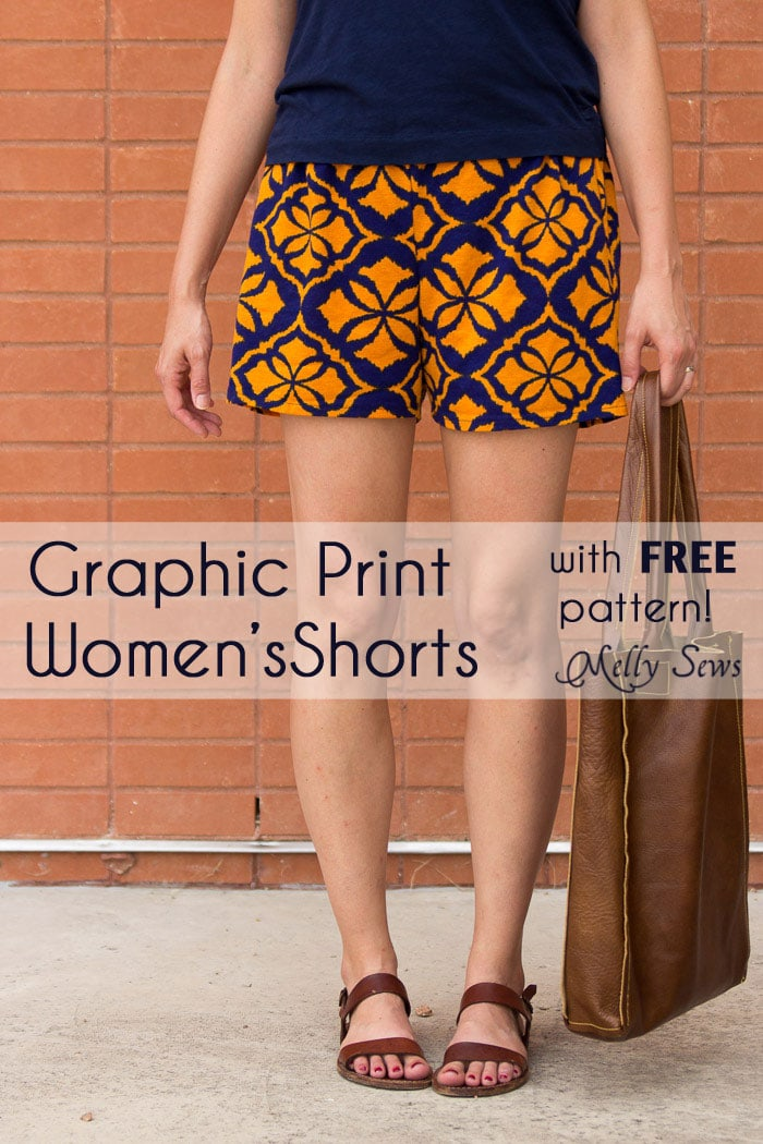 Graphic Print Shorts Tutorial Sew Womens Shorts
