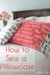 How to sew a pillowcase - Sew a pillowcase with a contrast cuff - it's easy! Get the full tutorial at Melly Sews