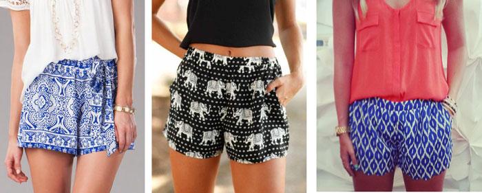 Graphic print shorts