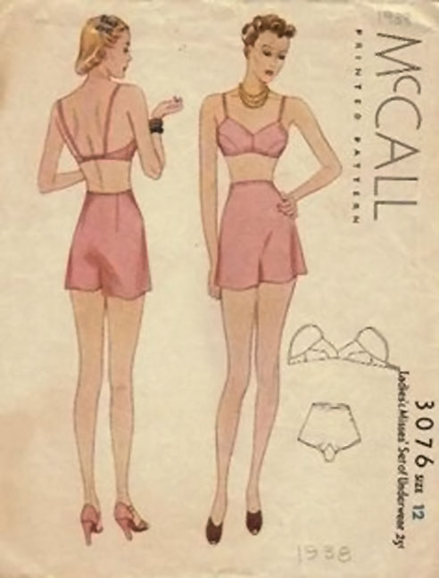 Vintage McCall Underwear Sewing Pattern