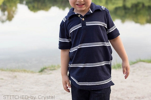 Perfect Polo by Blank Slate Patterns sewn by Stitch by Crystal