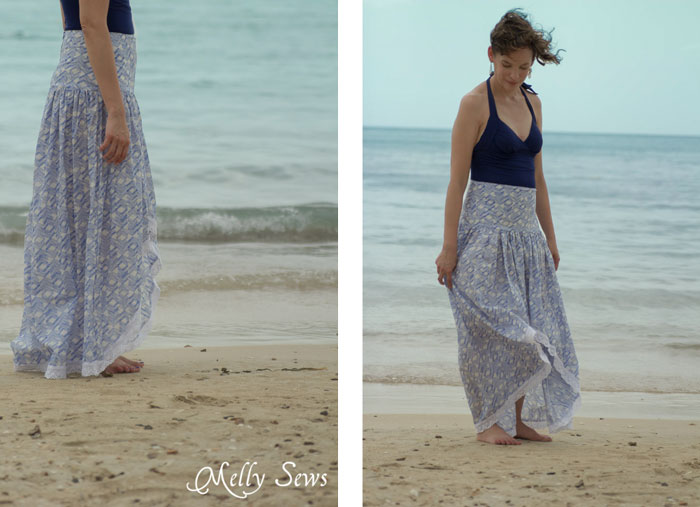 I love this! Boho Skirt Tutorial - Sew a Floaty Bohemian Skirt with this tutorial - Melly Sews