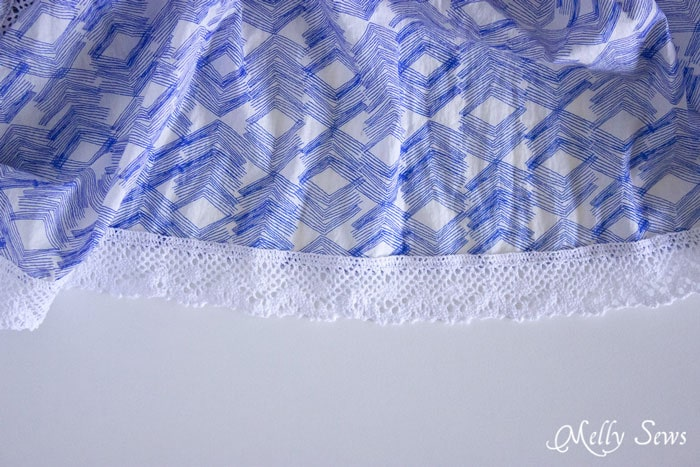 Step 3 - Boho Skirt Tutorial - Sew a Floaty Bohemian Skirt with this tutorial - Melly Sews