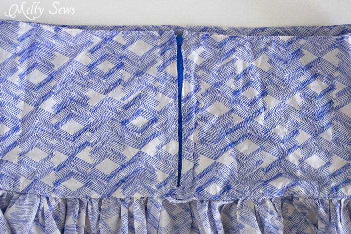 Step 2 - Boho Skirt Tutorial - Sew a Floaty Bohemian Skirt with this tutorial - Melly Sews