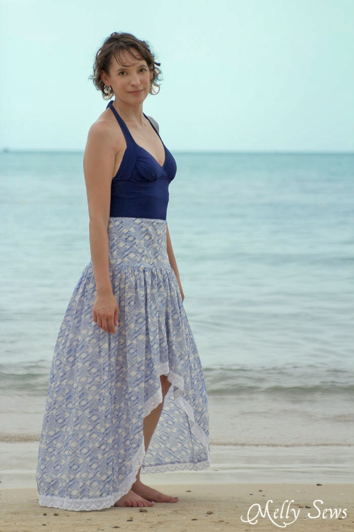 Sew a Boho Skirt - Must Make! Boho Skirt Tutorial - Sew a Floaty Bohemian Skirt with this tutorial - Melly Sews