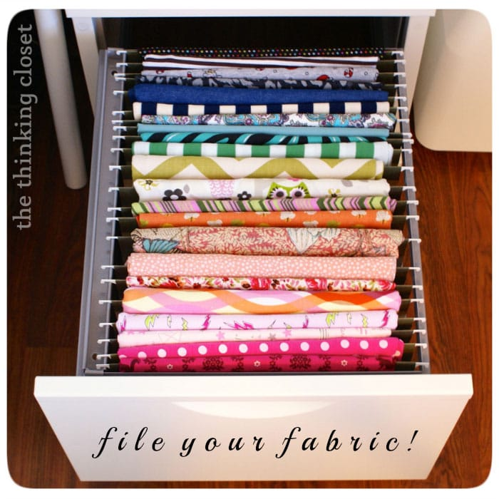 File your fabric - via The Thinking Closet