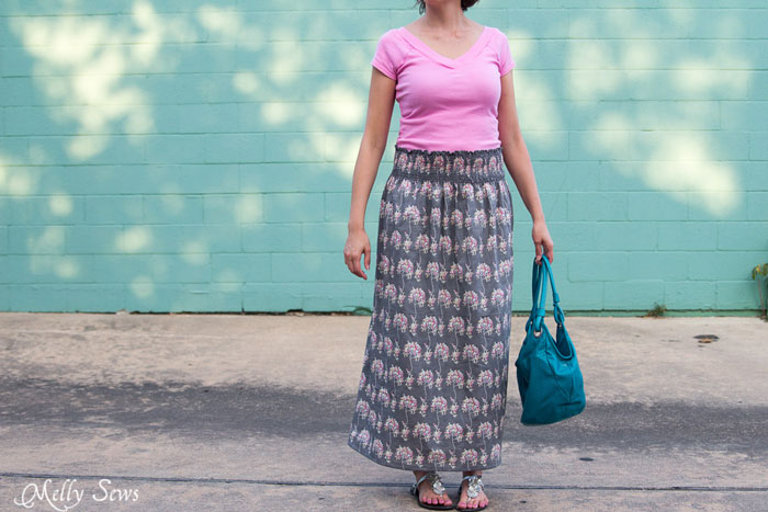 Must make - Make a stretch waist skirt from woven fabric with elastic thread shirring - Melly Sews