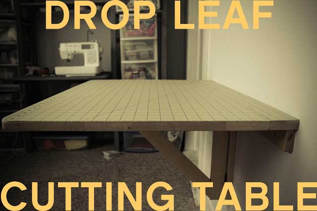 Drop Leaf Cutting Table - Grosgrain Fabulous
