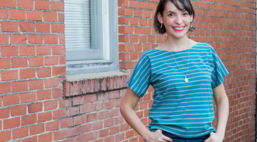 Easy to sew t shirt - 20 Minute Tunic - Sew this top from any kind of knit fabric in about 20 minutes with this EASY how to sew a shirt tutorial from Melly Sews