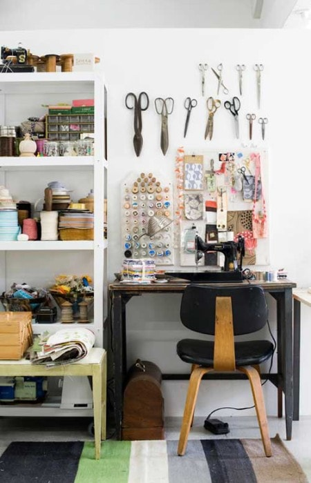 Beautiful sewing studio - Design Sponge