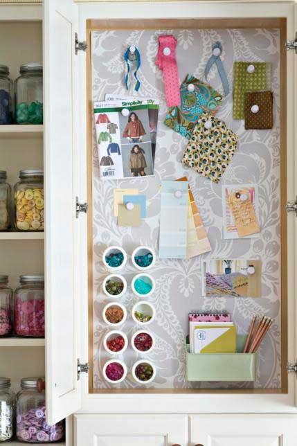 Magnet Board on Door for Storage - All People Quilt