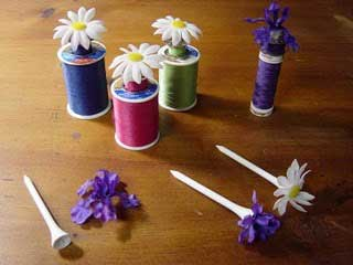 Golf Tees for Bobbins/Thread - Pickup Some Creativity