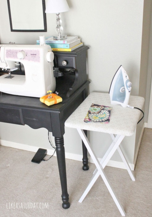 Small ironing board - perfect for next to your sewing machine - Like a Saturday