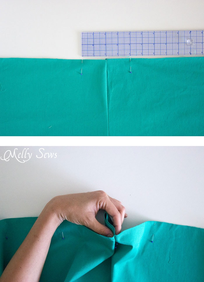 Step 1 - DIY Pleated Wrap Skirt - Sew a Pleated Mini Skirt with this easy tutorial - no buttons or zippers needed! - Melly Sews