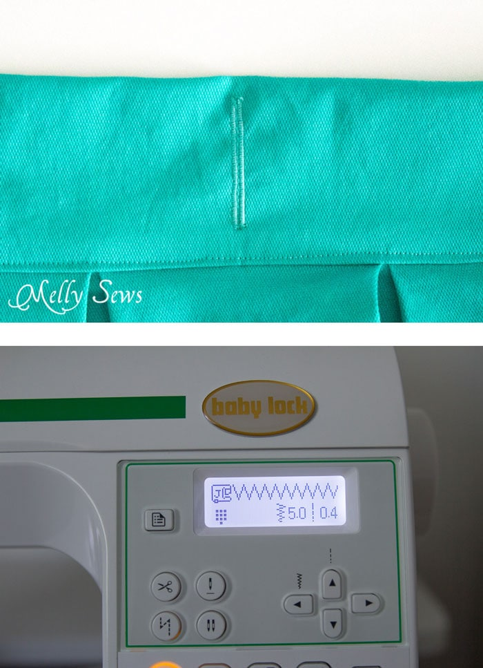 Step 8 - DIY Pleated Wrap Skirt - Sew a Pleated Mini Skirt with this easy tutorial - no buttons or zippers needed! - Melly Sews
