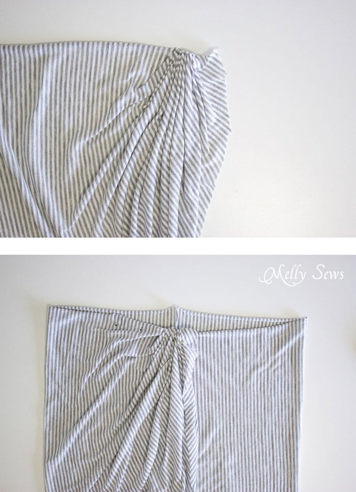 Step 1 - Draped Skirt Tutorial - make this wardrobe staple - it's actually easy! - Sewing tutorial from Melly Sews