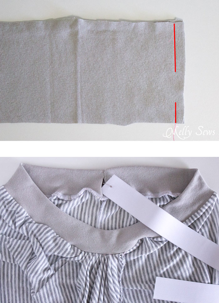 Step 2 - Draped Skirt Tutorial - make this wardrobe staple - it's actually easy! - Sewing tutorial from Melly Sews