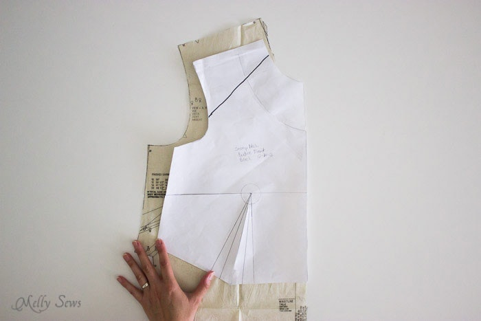 Front comparison - New Look 6677 - How to fit a sewing pattern - Melly Sews