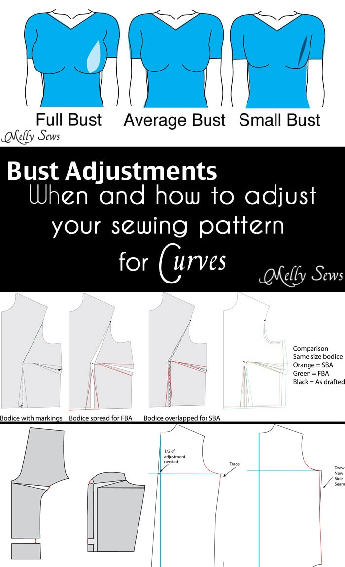 When and how to do a bust adjustment - such an informative post! Must pin for any woman sewing for herself