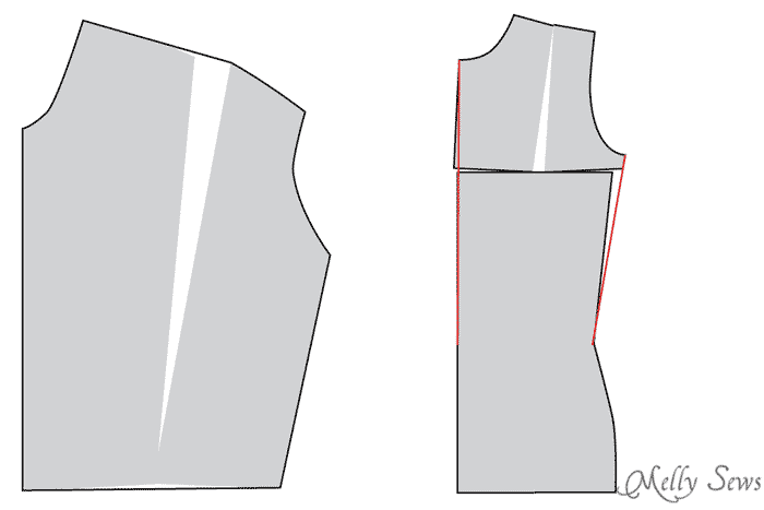 Dartless bust adjustment examples - how and when to do bust adjustments when sewing for women - Melly Sews