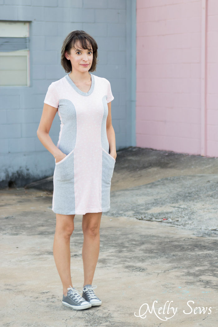 Blank Slate Patterns Denver Dress - princess seams and pockets make this a figure flattering must have! - DIY Women's Fashion Sewing Pattern