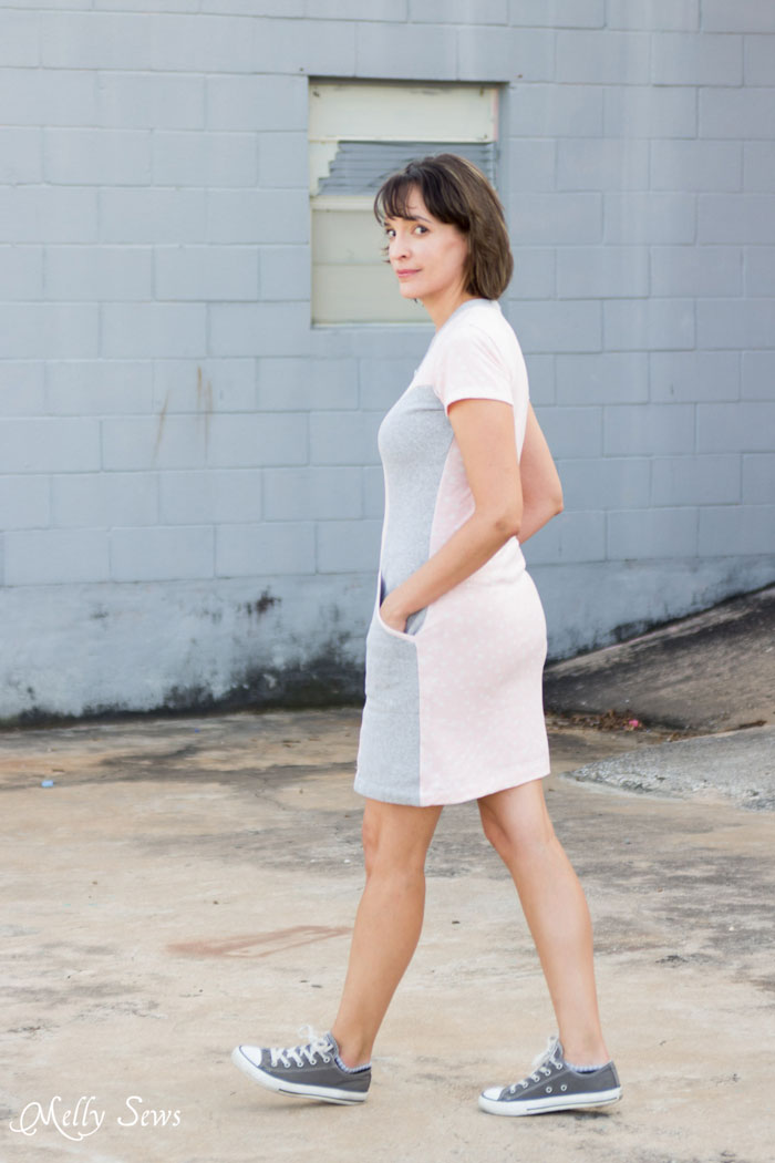 Back view - Blank Slate Patterns Denver Dress - princess seams and pockets make this a figure flattering must have! - DIY Women's Fashion Sewing Pattern