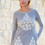Diamond Top with Lace - Pattern by Shwin Designs for Pattern Anthology, sewn by Melly Sews