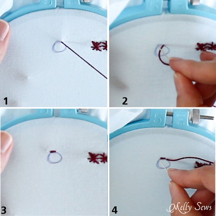 How to satin stitch - How to Hand Embroider - Embroidery Stitches to add to a handmade or store bought shirt - Women's DIY Fashion and sewing - Melly Sews