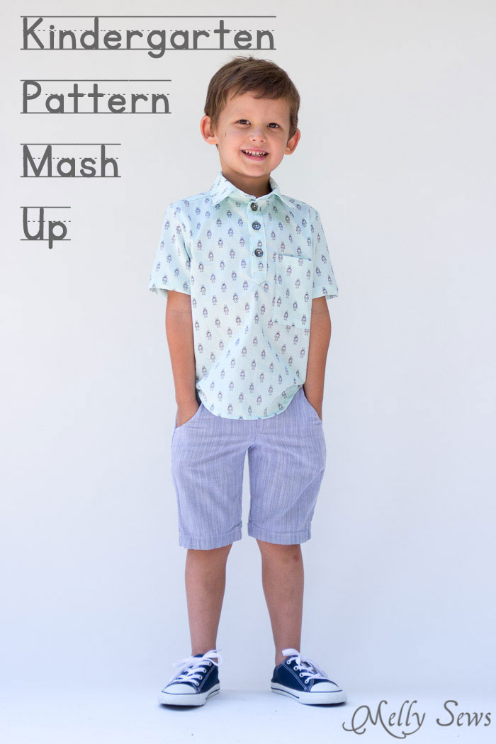 Blank Slate Patterns Prepster Pullover Pattern mashup - sewing patterns for boys - Melly Sews