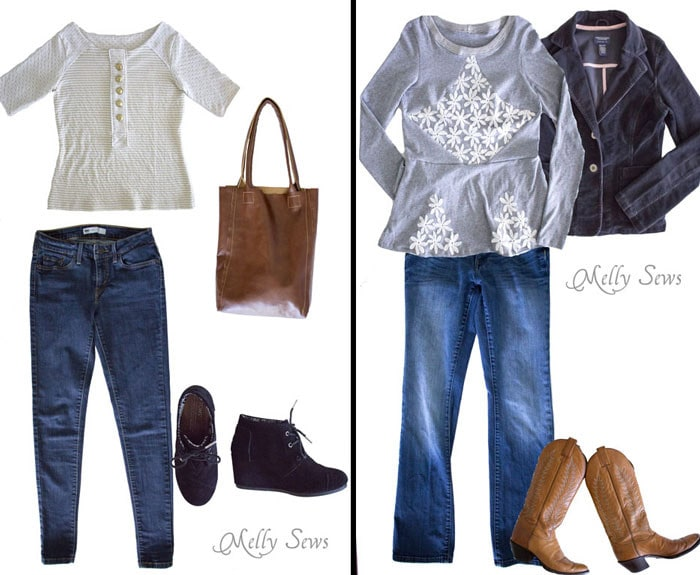 The Gwen Top by See Kate Sew and the Diamond top by Shwin Designs - outfit ideas to sew
