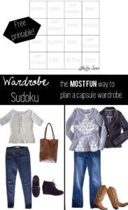 Wardrobe Sudoku - Free download for wardrobe sudoku - a fun way to plan a capsule wardrobe - looks like fun!