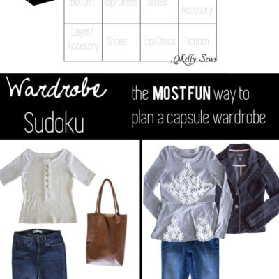 Wardrobe Sudoku – Planning a Capsule Wardrobe with Unbiased Patterns