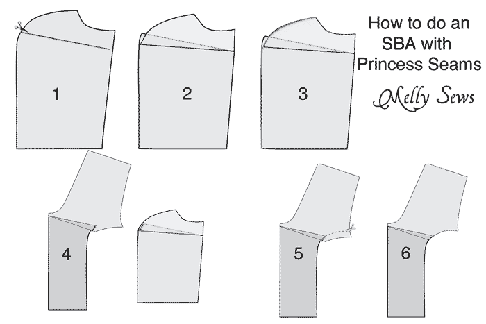 Princess seam small bust adjustment - how and when to do bust adjustments when sewing for women - Melly Sews