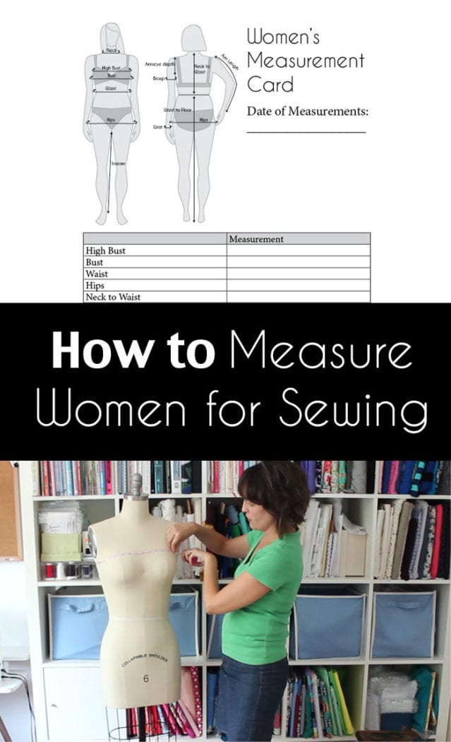 How to Measure Women for Sewing - Are You Doing it Wrong? Watch this Video and Make Sure You're Measuring Yourself Correctly to choose your size