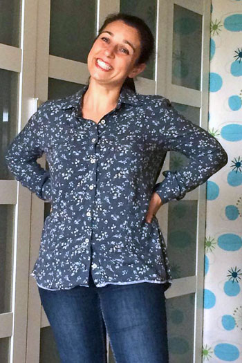 Novelista Shirt Sewing Pattern for women in sizes XXS-3X by Blank Slate Patterns - long sleeve version