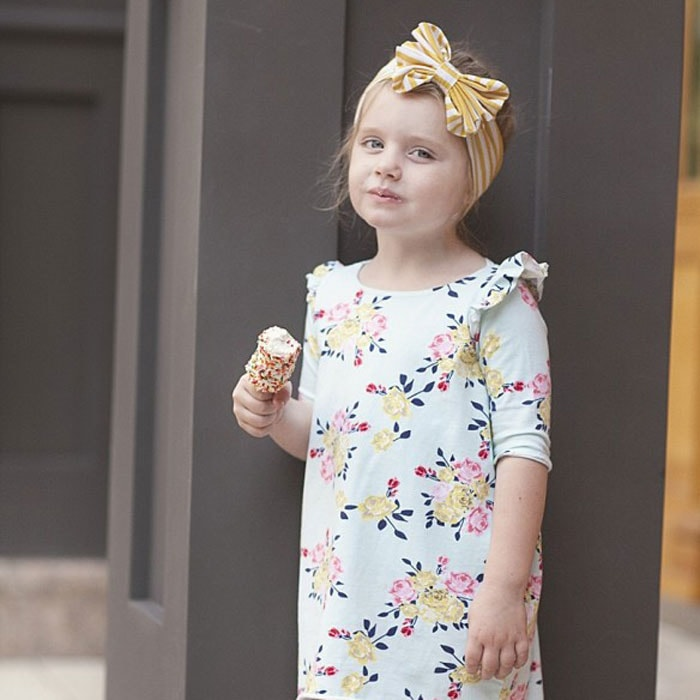 Cocoon Dress by Sewing in No Mans Land in Idle Wild Multi Floral