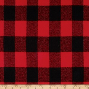 Robert Kaufman Mammoth Plaid Flannel in Red/Black