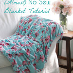 (Almost) No Sew Blanket from Idle Wild Fabrics