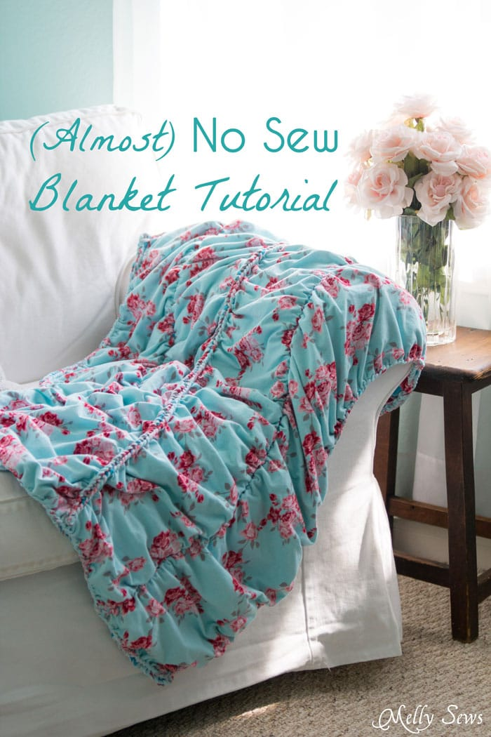 Almost No Sew Blanket From Idle Wild Fabrics Melly Sews