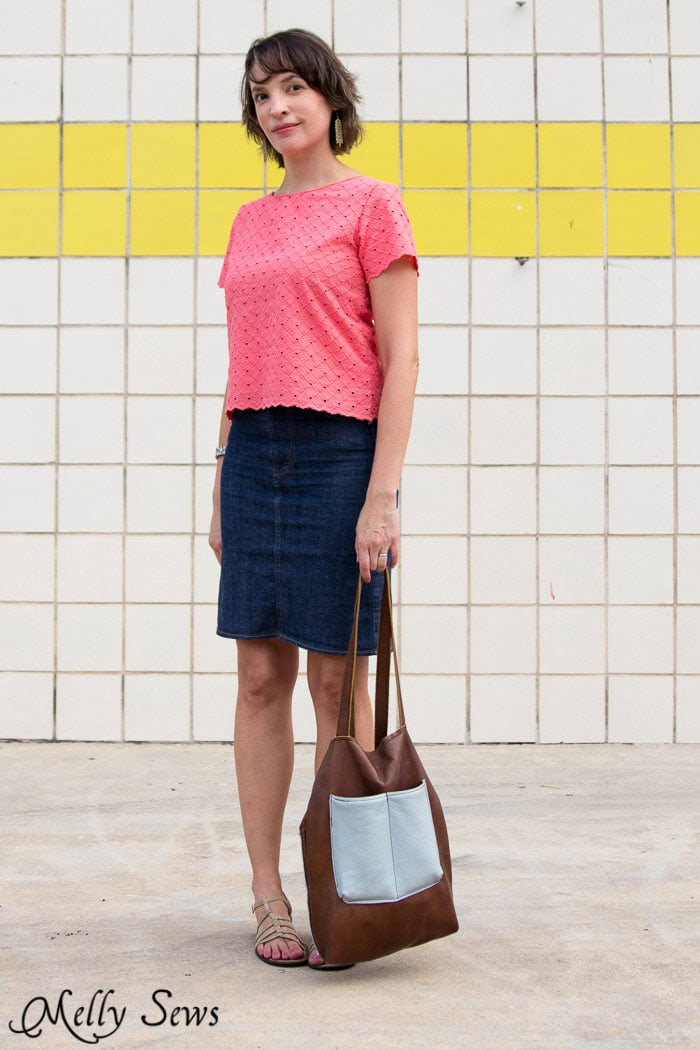 Must make! Cropped Boatneck sewn with Shoreline Boatneck pattern by Blank Slate Patterns - Melly Sews